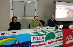 I tre segretari regionali del comparto edile dei sindacati