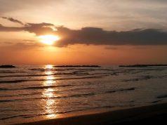 Il mare Adriatico visto dalla spiaggia di Senigallia