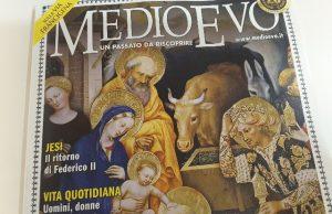 """La copertina del mensile """"Medioevo"""", in risalto il reportage sulla nostra città e l'imperatore"""