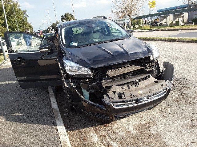 La Ford Kouga dopo l'incidente
