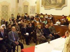 La celebrazione eucaristica pre natalizia dello scorso anno nell'aula del Consiglio comunale