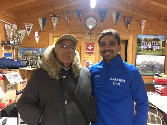 Il Presidente Fiorenzola con Gabrielloni