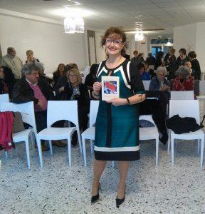 Orietta Palanca, autrice del libro di poesie, in un momento della presentazione