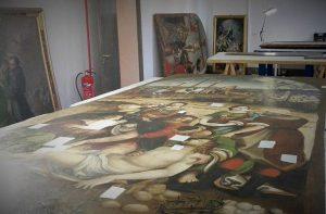 Una meravigliosa tela salvata dal sisma oggi a Milano