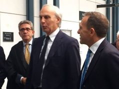 Massimo Bianconi e Davide Degennaro, l'imprenditore (a destra )