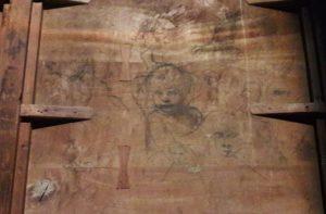 Tiziano, bozzetto per il volto di Gesù bambino e vari studi di teste