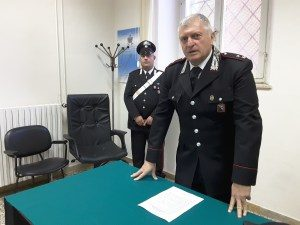 Il comandante della Compagnia Carabinieri di Jesi, maggiore Benedetto Iurlaro