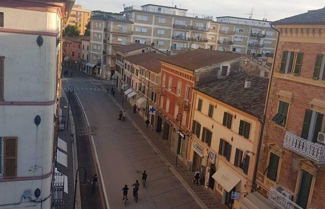 Corso Matteotti, la strada principale del centro storico di Chiaravalle