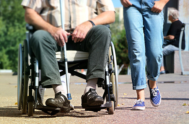 disabilità, sedia a rotelle, mobilità, accessibilità, assistenza
