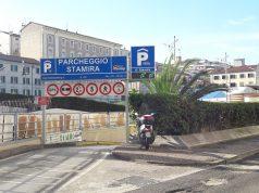 L'entrata del parcheggio Stamira