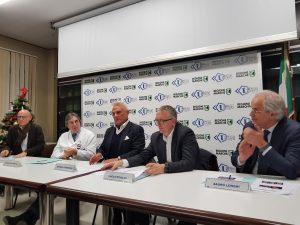 Un momento della conferenza stampa di presentazione della nuova Tac