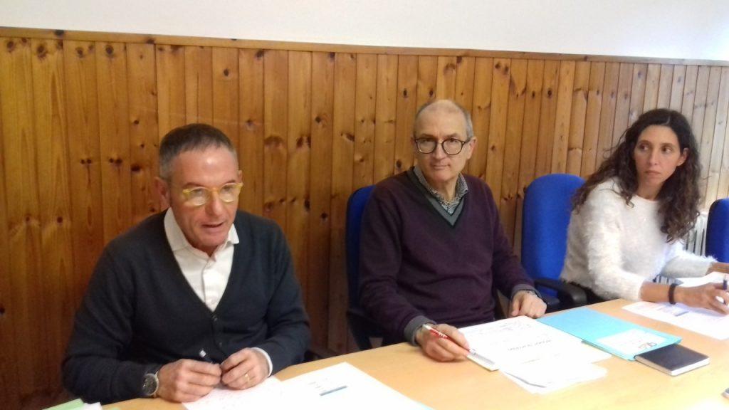 Da sinistra Sergio Mosconi, Franco Pesaresi e Nora Bianchi dell'Asp
