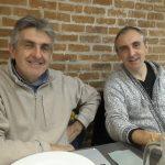 Claudio Lotito, a destra, con il fratello Giovanni