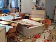 I danni alla scuola Tombari di Ancona