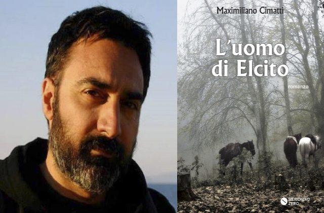 Maximiliano Cimatti e la copertina del suo romanzo