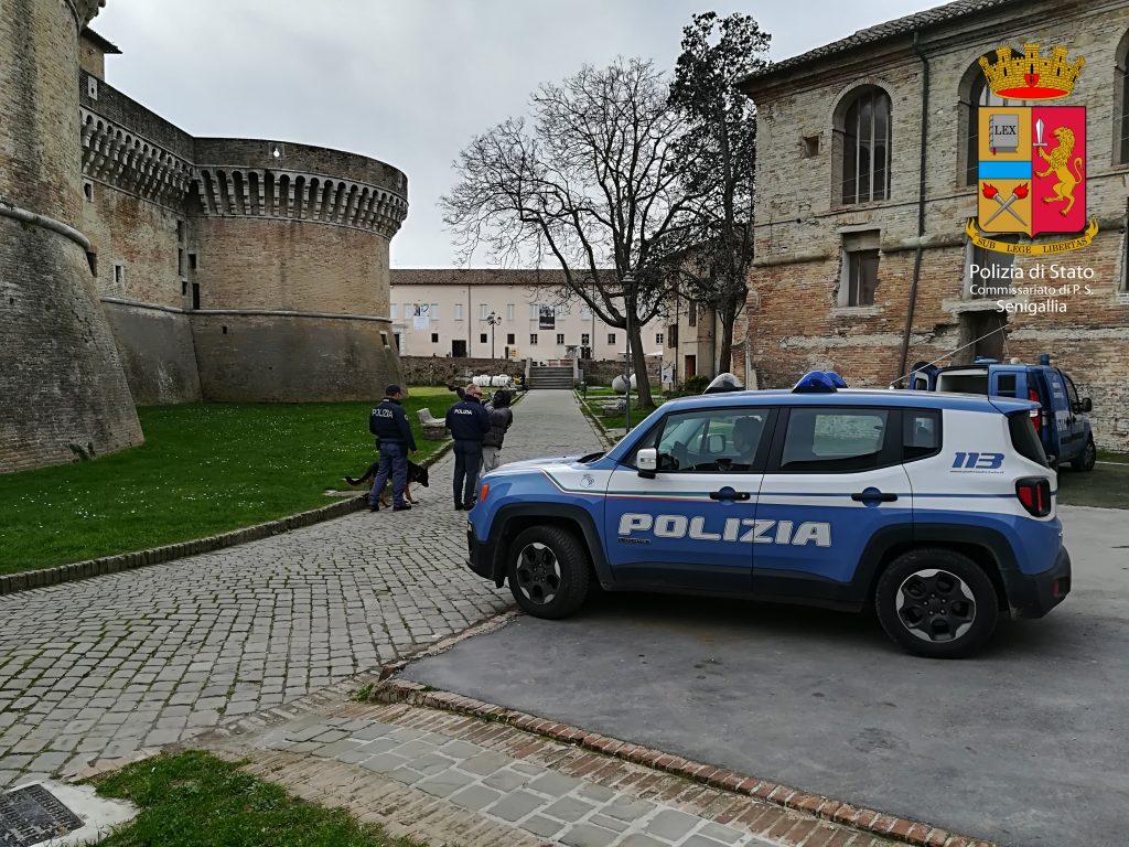 I controlli della Polizia alla Rocca Roveresca
