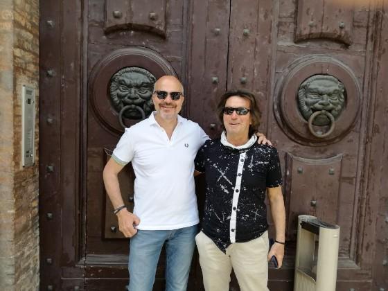 Claudio Bigi, a destra, insieme al presidente di JesiAmo, Graziano Tesei