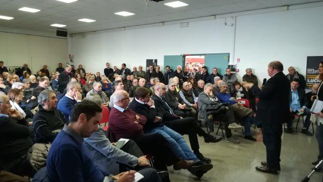 Marco Luchetti alla presentazione della candidatura a sindaco