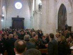 La Santa Messa al Duomo (in primo piano il fratello di Dino Di Michelangelo)