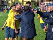 Andrea Staffolani, quattordici goal stagionali con la maglia della Passatempese