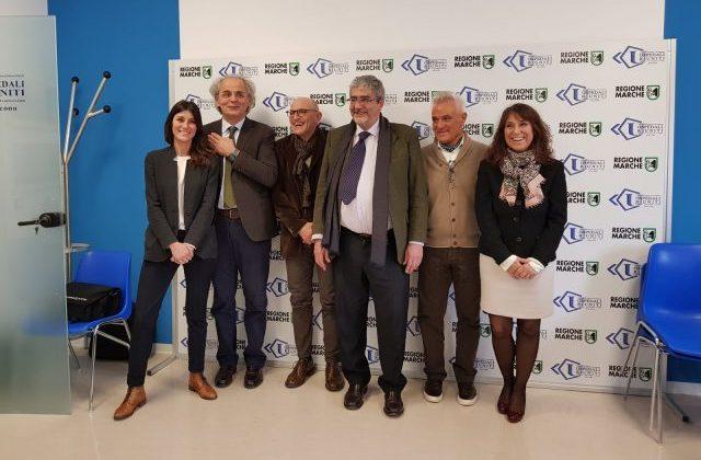 I relatori che hanno partecipato alla conferenza stampa per la nuova tecnica in ambito pneumologico