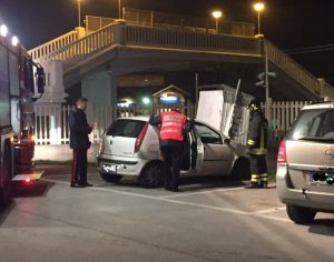 L'auto trovata a pochi metri dalla tragedia