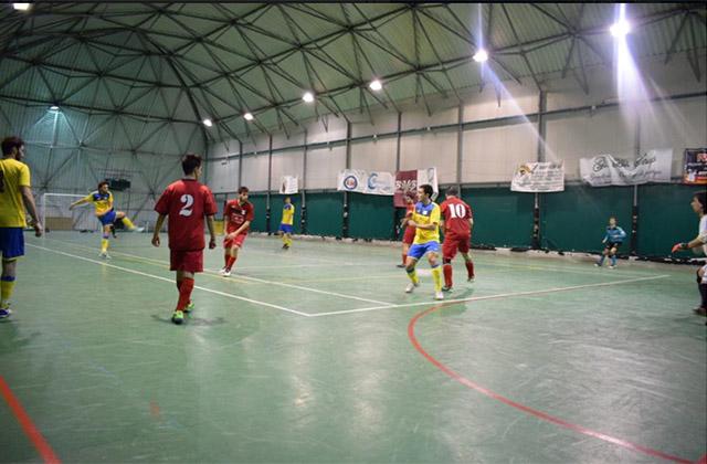 """Un match della squadra di calcio a 5 di Senigallia """"Asd Ciarnin"""""""