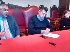 Da sinistra Campanile, Mangialardi e Filonzi, intervenuti sul bilancio di Senigallia