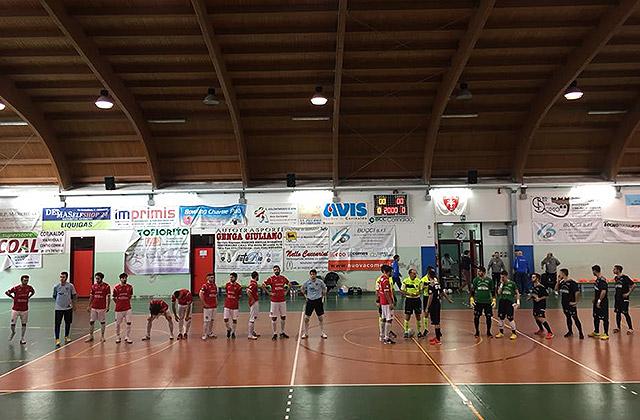 La sfida di calcio a 5 tra Corinaldo e Cesena