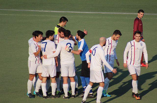 L'esultanza dell'Fc Vigor Senigallia per il goal di Denis Pesaresi