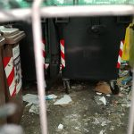 L'isola ecologica di piazzale Cairoli a Senigallia