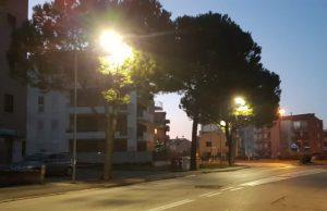 I nuovi punti luce in via Verdi