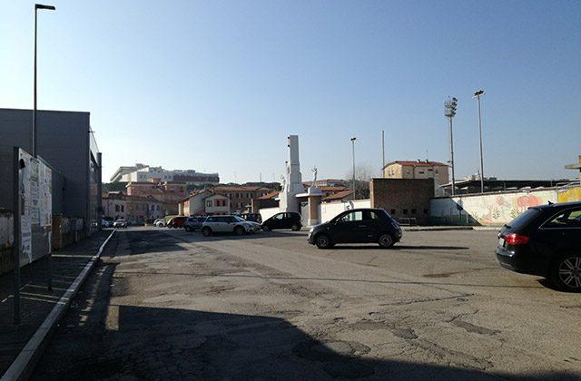 I parcheggi in zona stadio Bianchelli a Senigallia
