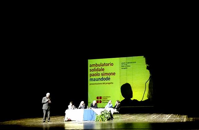 La presentazione dell'ambulatorio solidale al teatro La Fenice di Senigallia