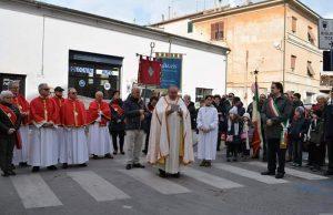 Un momento della cerimonia in Largo 17 Gennaio