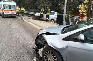 L'incidente in via Clementina a Castelplanio Stazione