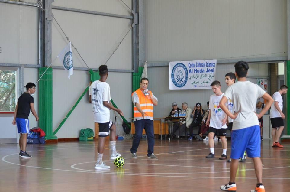 Whabi Youssef durante il torneo per la pace del 2017