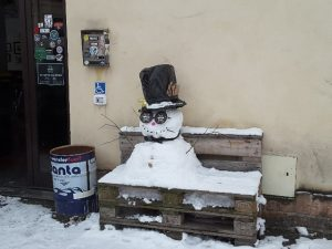 Un pupazzo di neve... comodo