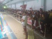 Il pubblico al PalaBlu per il derby