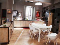 La cucina nel set della fiction
