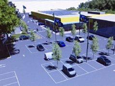 Rendering supermercato e parcheggio a Vallemiano (Foto: Albo Pretorio)