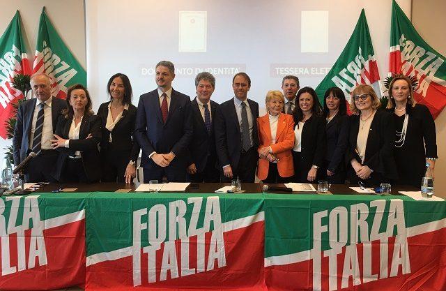 La squadra di Forza Italia alle elezioni politiche