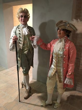 Giacomo Casanova con la cantante soprana
