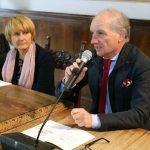 Mariano Severini della Bcc Filottrano e Lauretta Giulioni, sindaco di Filottrano