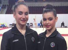 La fabrianese Talisa Torreti (a sinistra) e l'abruzzese Eva Gherardi oggi a Mosca