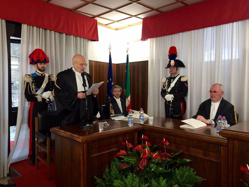 Il procuratore regionale Giuseppe De Rosa, e il sostituto procuratore Antonio Palazzo