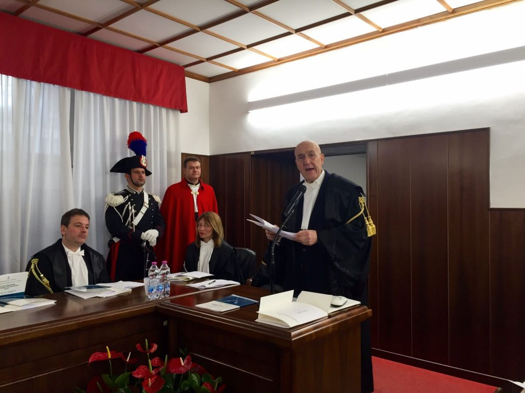 Il presidente della sezione di controllo Maurizio Mirabella