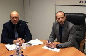 Da sin: Marzio Sorrentino, responsabile area sindacale cna ancona e Massimiliano Santini, direttore cna territoriale ancona