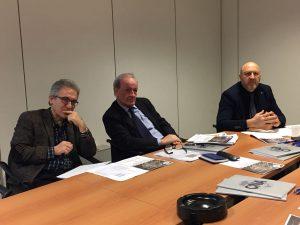 Da sinistra, Giovanni Dini e al centro Pietro Marcolini