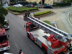 I vigili del fuoco al ponte del Pincio Ancona